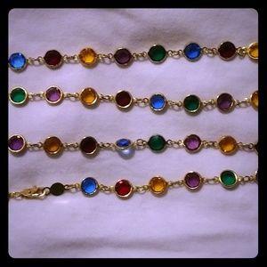 Rafaelian Austrian crystal USA multi colored neckl